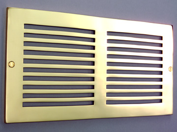 Brass vent covers brass air vents atlanta supply co for 14x6 floor register