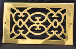 polished brass wall register