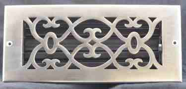 satin nickel wall register